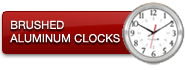Brushed Aluminum Clocks