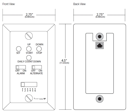 Digital LED Countdown Timer Specifications