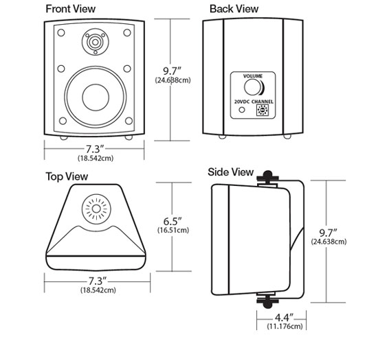 Public Address Wireless Speaker Specifications